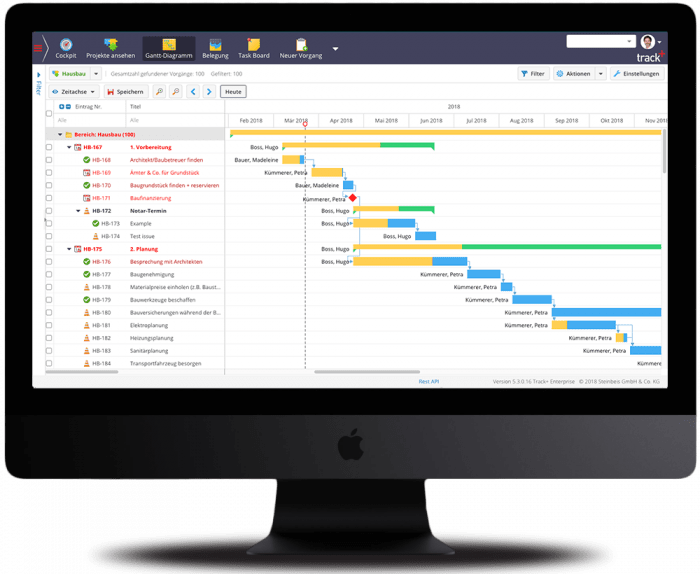 Allegra Project Management System on Screen